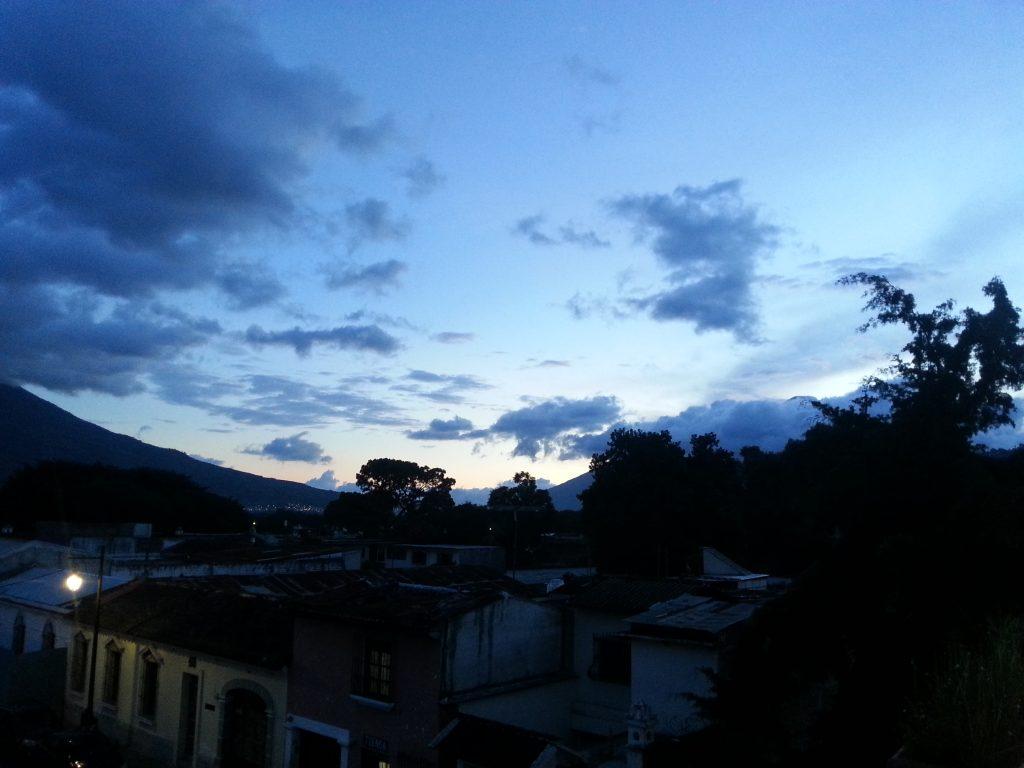 Sunset over La Antigua